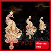 Wholesale Diamond Grips - Luxury Universal Mobile Phone Diamond Ring Stent Cell Phone Ring Holder Finger Grip with Free Hook for Car Using Phone Stand