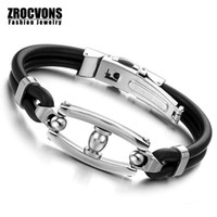 Wholesale China Wholesale Famous Brand - Wholesale- New Fashion Stainless Steel Rope China Men Bracelet Genuine Leather For Men Bracelet Men Jewelry famous brand jewelry
