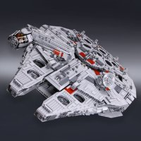 Wholesale 1 LEPIN Star Wars Ultimate Collector s Millennium Falcon Model Building Kit Blocks Bricks Toy Compatible