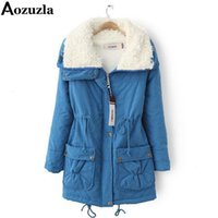 Wholesale Thicken Warm Winter Parka Coat - Wholesale- Hot Sale! 2017 Fashion Winter Women Coat Solid Long Thicken Outerwear Woman Clothes Warm Turn Down Collar Jacket Womens Parka