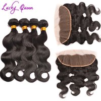 review-review with best reviews - 3 pcs Brazilian Virgin Hair With Frontal Closure Bundle Body Wave Lace Frontal With Bundles 8A Sexy Formula Hair With Closure