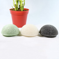 Wholesale pure body cleanse - Konjac Sponge Puff Natural Healthy Facial Sponges Pure Natural Konjac Vegetable Fiber Making Cleansing Tools For Face And Body with Bag