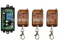 Wholesale Remote Receiver 12v Garage - Wholesale- DC 12V 10A 1CH 315MHz 433MHZ Wireless RF Remote Control Switch 3pcs Transmitter+ 1pcs Receiver  lamp  window Garage Doors