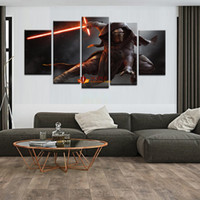 Wholesale Large Canvas Piece - Large Canvas Print 5 Piece Star Wars Modern Paintings Home Wall Art Decoration abstract wall art living room wall pictures