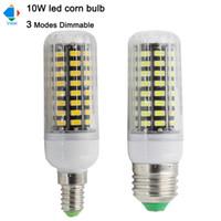 Wholesale lampe e27 - 6x Dimmable ampoule led bulb lampe e27 E14 3 Modes Dimmer 10W 110V 220V best quality corn light 5733 72 leds energy saving