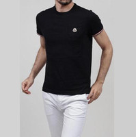 Wholesale T Shirt Branding Logo - Cotton Brand LOGO Embroidery Men T-shirts Men's Pocket decoration Short Sleeve O-neck Solid Color luxury Tshirt Casual Fitness Men T shirts