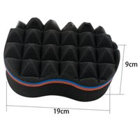 DoNew Arrival uble Barber Hair Brush Sponge For Dreads Locking Twist Coil Afro Curl Wave Round Shape