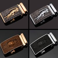 Wholesale 2017 Male leopard head automatic buckle Europe and the United States fashion belt buckle Men belt buckle