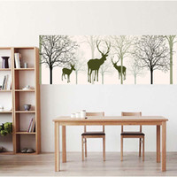 Wholesale Kids Animal Canvas Art - 40*120Cm Matte Canvas Wall Art Spray Paintings Unframed Simplicity Cartoon Artistic Paint Moose Portrait Wall Decor Hotel Kids Room Decor