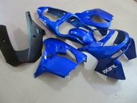 partes del cuerpo kawasaki zx9r al por mayor-Aftermarket partes del cuerpo kit de carenado para kawasaki ninja ZX9R 98 99 carenados azules conjunto ZX9R 1998 1999 OT08