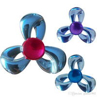 Wholesale Metal Toy Bow - Silver Bow Tie Fidget Spinner EDC Metal Triangle Hand Spinners Rotation Time Long Stress Reliever Finger Toy Durable 12 5yt B