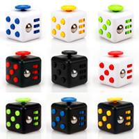 Wholesale Wholesale Vinyl Toys - Mini Fidget Cube Toy Vinyl Desk Finger Toys Squeeze Fun Stress Reliever 3.3cm High Quality Antistress Cubo