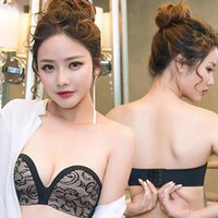 Wholesale Ladies Without Underwear - Women Lady Girls Casual Fashion Summer Invisible Bra No Steel Ring Underwear Without Strapless Bra 3245