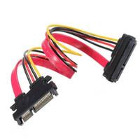 Wholesale Sata Male Female 22 - 22 Pin Male to Female 7+15 pin SATA Data Power Combo Extension Cable 45cm
