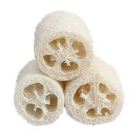 Wholesale Wholesale Spa Sponge - Wholesale-3 Pieces Natural Loofah Luffa Bath Shower Sponge Spa Body Scrubber Horniness Remover Bathing Massage Sponge