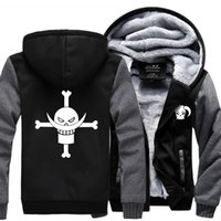 Wholesale One Piece Thick - Wholesale- New fashion Anime Luminous Hooded Coat Thicken Zipper man fleece brand funny Jacket Sweatshirt Winter Warm one piece Hoodie men