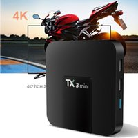 Android 7.1 TX3 Mini Smart TV Box KDMC 17.3 totalmente carregado com 4K H.265 1080P Video Streaming suportado OTH010