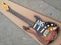 Wholesale Guitar Old - Hot Sale Distressed Tobacco Electric Guitar with Maple Fretboard and Black Pickguard,In Old Style and Can be Changed as Request