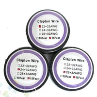 Wholesale fast foot - Newest Clapton Wire Resistance Wire 15 Feet 22+32 24+32 26+32 awg Gauge Fast Heating Vaporizer Coil Wire fit Atomizer DHL Free