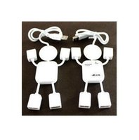 Wholesale Lovely Usb Hub - F03693 Mini Lovely White Human Doll Shape High Speed USB 2.0 4 port HUB 480Mbps For PC Laptop