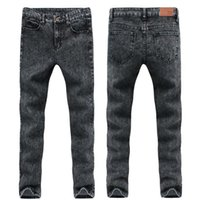 Wholesale Men Jeans China - Wholesale-china Cheap wholesale 2016 new hot sale College Wind student hot sale Men Denim fashion casual Slim stretch jeans
