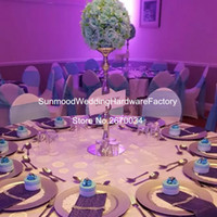 Wholesale Pillar Candle Holder Wedding Table Decoration mental Centerpiece