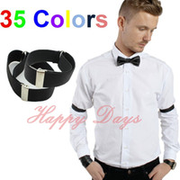 Wholesale Shirts Sleeve Holders - Wholesale- Mens Shirt Sleeve Holders Arm Bands Bridegroom Garter Elasticated Metal Armband Ladies 2.5cm wide, 250 Pairs