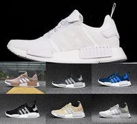 Wholesale Running Tri - 2017 NMD Runner R1 boost PK mesh Monochrome Salmon Talc Cream Olive Triple Black Tri-Color Mens Womens Running Shoes NMD Sneakers US 5-11