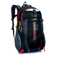 Wholesale Bagpack Camping - Wholesale- 2017 Fashion Backpack Male Waterproof Nylon Men and Women Backpack Travel Hike Camp Climb Rucksack Bag Casual School Bagpack 40L