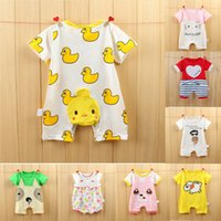 Wholesale China Cheap Baby Clothes - Hot selling 37 designs for your choose Baby cartoon one-piece romper China cheap supply infant clothing