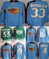 Wholesale Sewing Letters - Atlanta Thrashers #33 Dustin Byfuglien jersey 9 Evander Kane 16 Ladd jerseys #4 BOGOSIAN Sewn on letters Byfuglien Stitched jersey