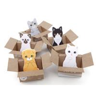 katze klebrige notizen großhandel-Wholesale- 1pcs / Lot Katze Notizblock Sticky Note Papier Scrapbooking Aufkleber Pads koreanisches Briefpapier