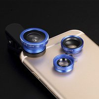 Wholesale Mobile Camera Kit - Mobile Phone Lens with Fish Eye & Macro & Wide Angle & Clip 3 in 1 Camera Lens Kit for IPhone 7 6 5 5C 5S 6S 6Plus Huawei Xiaomi TX001
