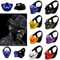 Wholesale Airsoft Paintball Mask Goggles Hannya Mask Halloween Mask Army of BB Gun Paintball Airsoft Hunting Accessories Party Props