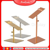 Wholesale Display Stand Shoes Upscale Stainless Steel Racks Holder Shelf Fugui Products Showcase Show Props X002S