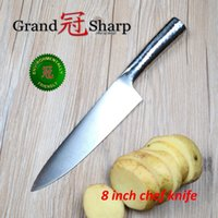 """Wholesale German Steel Kitchen Knives - GRANDSHARP 8"""" inch Chef Knife German High Carbon Stainless Steel 1.4116 Kitchen Tool Super Sharp Kitchen Knives FREE SHIPPING"""