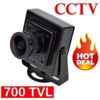 "Wholesale cheap mini video cameras - Wholesale-High Quality Cheap HD 700TVL Mini Camera 1 3"" Sensor 2.1mm MTV Lens CCTV Video FPV Color Camera Mini FPV Camera"