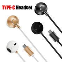 Wholesale Port Noise - Type C Earphones Moto Z Earbuds HTC U11 Type-C Headphones Hi-Fi Digital 3D Audio Without Mic for type-c Port Smartphone