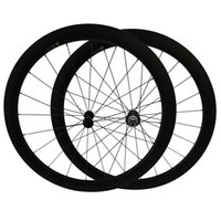 Cubos De Las Ruedas De Encargo Baratos-Powerway R13 Hubs Free Customs Fee 700C 38mm 50mm Clincher ruedas de fibra de carbono tubular 3K mate Road Bike bicicleta Wheelset