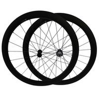 kohlefaser zoll großhandel-Powerway R13 Naben Kostenlose Zollgebühr 700C 38mm 50mm Drahtreifen Carbon Kohlefaser Räder 3K Matte Rennrad Fahrrad Laufradsatz