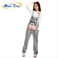 Wholesale Suspenders Pregnant - Suspenders Strap Pants Maternity Knitting Spring Winter Autumn Hippo Printed Trousers Pregnant Comfortable Clothes Pregnant Women Clothing