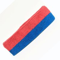 Wholesale Sports Cloth Headbands Wholesale - Wholesale 18*5cm Cotton Towel Cloth Sports Striped Color Sweatband Yoga Hair Bands Fashion Head Sweat Bands Headband Sports Safety