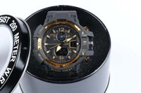 Wholesale Mans Watches Analog Digital - GA1100+G box relogio men's sports watches, LED chronograph wristwatch, military watch, digital watch, good gift for men & boy, dropship