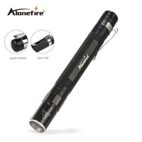 Wholesale Battery Work Lamp - AloneFire MN23 Portable Mini Penlight CREE Q5 LED Flashlight Torch Pocket Light Waterproof Mini Torch Lamp use 2*AAA Battery