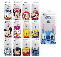 Wholesale Cartoon Character Iphone Covers - Funny Minnie Mickey Cartoon Soft Case For Apple iPhone 4 5 6 7 S Plus SE 5C Samsung Characters Back Cover Skin Coque