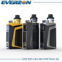 Atacado- Original iJoy RDTA Box Mini Kit 100W com 6ML e-juice tank IBM-C2 Coil BOX MOD Built-in Li-Po 2600mAh bateria E-cigarette Kit