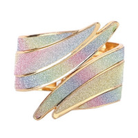 Wholesale Scrubs Sets - Fashion Cuff Colorful Angel Wings Bracelet Men Open Punk Ethnic Scrub Sticker Sexy Party Bangle Bracelet For Women Jewelry Free shipping