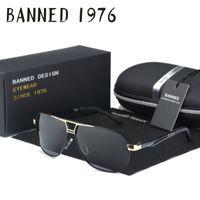 модные солнцезащитные очки real оптовых-Оптовая продажа-2017 настоящее высокое качество мужчины HD поляризованные металлические солнцезащитные очки Мода вождения солнцезащитные очки для мужчин очки Oculos с оригинальной коробке