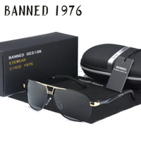 Wholesale wholesale real sunglasses for sale - real high quality men HD polarized metal Sunglasses fashion driving Sun Glasses for male eyewear Oculos with original box