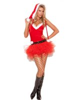 Wholesale Sexy Santa Cheap Costumes - Cheap!!! Free shipping Women Christmas Costumes Red Christmas Dress Santa Claus Costumes for Adult women clothing sexy dress W4059